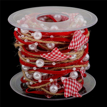 Christmas Tree Decorations Chain Ribbon DIY Star Merry Party Decor Supplies Happy New Year