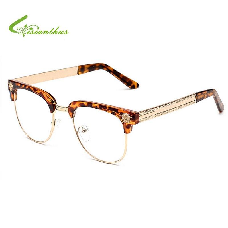 new eyeglass frames 5sae  Retro Round Eyes Glasses Frame Women /Men Vintage Fake Glasses Frames Black  Plain Glasses Eyeglasses