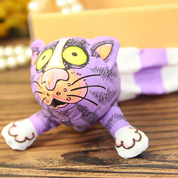 Long-tailed cat pet funny cat toys containing mint powder