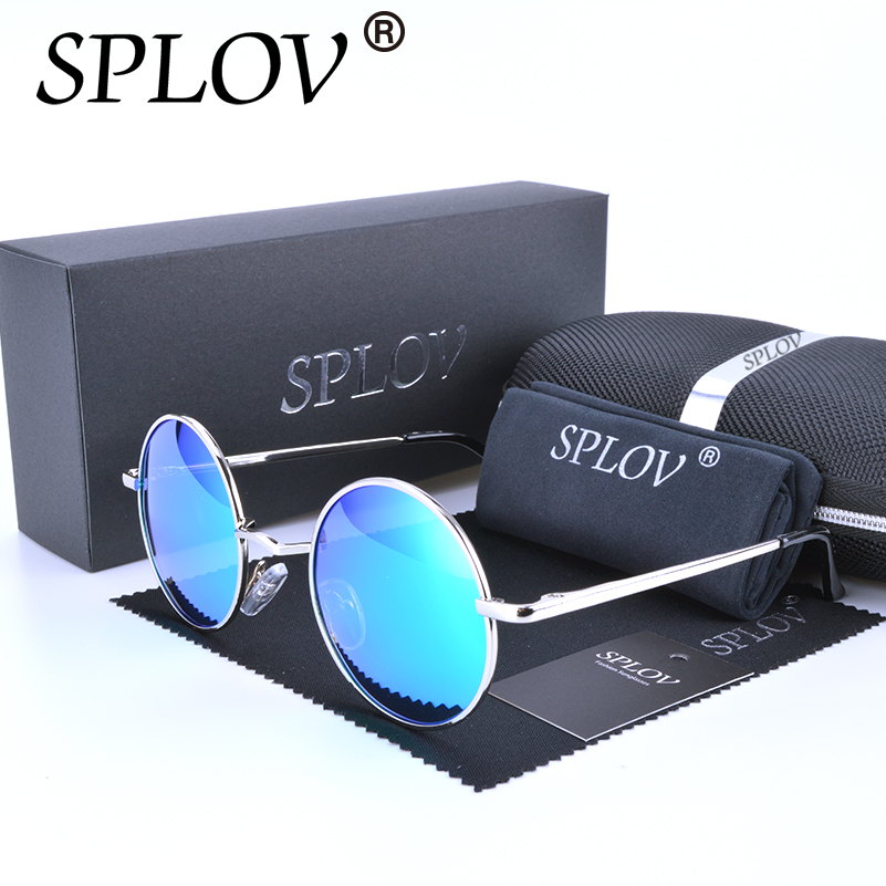 2017 Ray Brand Designer Classic Polarized Driving Round Sunglasses Men Retro John Lennon Glasses Women Metal Fashion Eyeglasses