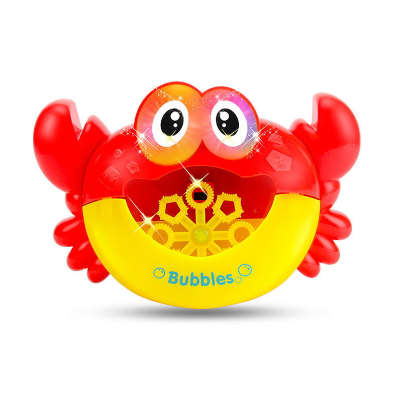Crab Blowing Bubble Machine Toys Baby Toys Bath Device Bubble Machine Bathing Bath For Soap For Children With Music Water Toy|Bath Toy| |  - title=