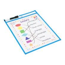ドライ消去ポケット再利用可能な特大サイズ 10 × 13 インチ完璧な教師用品教室組織と装飾