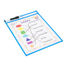 Dry Erase Pockets Reusable Oversized Size 10 X 13 inches Perfect Teacher Supplies for Classroom Organization and Decorations