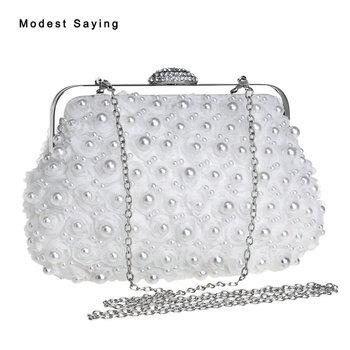 Luxury White Pearls bag