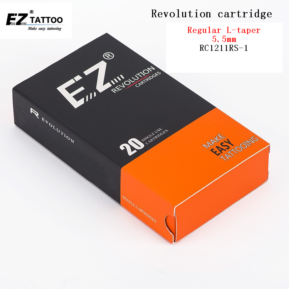RC1211RS-1 EZ Revolution Cartridge Tattoo Needles Round Shader for System Machine & Grips