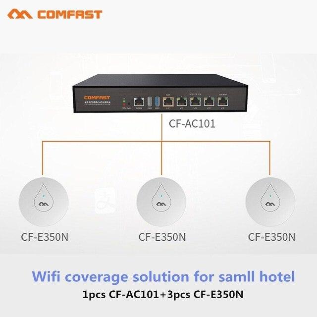 Küçük Otel için Wifi Kapak ve Dikişsiz Wifi router Yönetmek 1 adet Gigabit AC Ağ Geçidi Yönlendirme 4 port poe anahtarı ve 3 adet kablosuz erişim noktası
