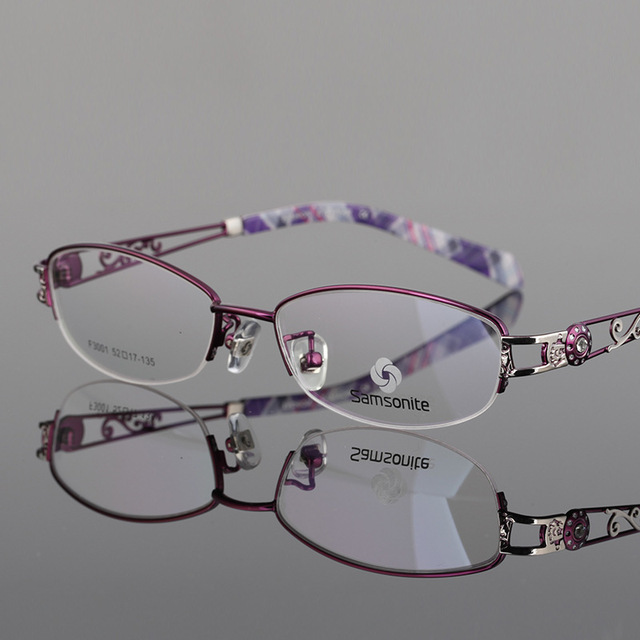 Ma'am Business Affairs Half Frame Glasses Fashion Gradual More Focus Intelligence Both Light Discoloration Glasses Woman 3001