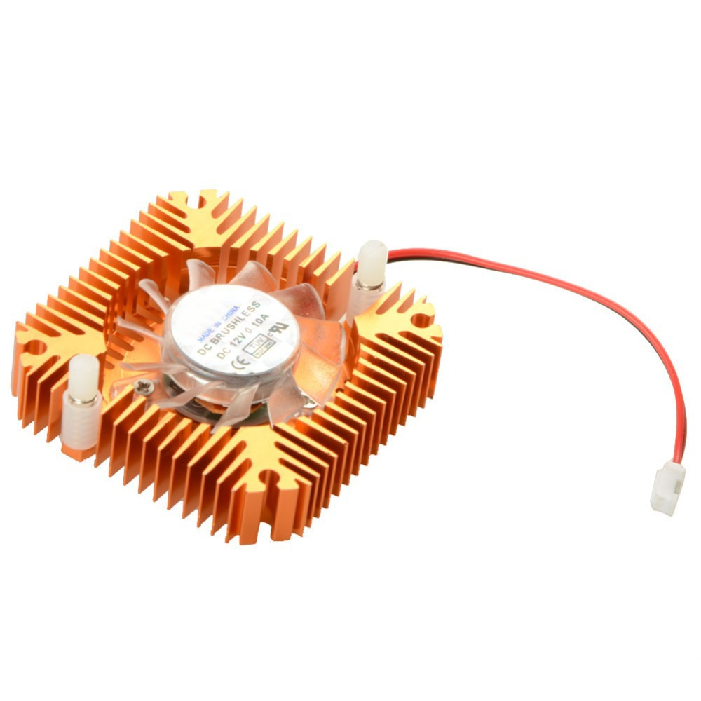 New 55mm 2 PIN Graphics Cards Cooling Fan Aluminum Gold Heatsink Cooler Fit For Personal Computer Components Fans Cooler P20 55mm 2 pin graphics cards cooling fan aluminum gold heatsink cooler fit for personal computer components fans cooler