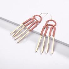 Matte Powder Coating Geometric Statement Earrings Women Jewelry Gifts Trendy Fashion Earing Female