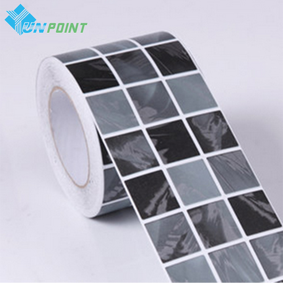 Black Mosaic Waterproof Wall Sticker Bathroom Art Decals PVC Self-adhesive Wallpaper For Kitchen Toilets Wall Papers Home Decor