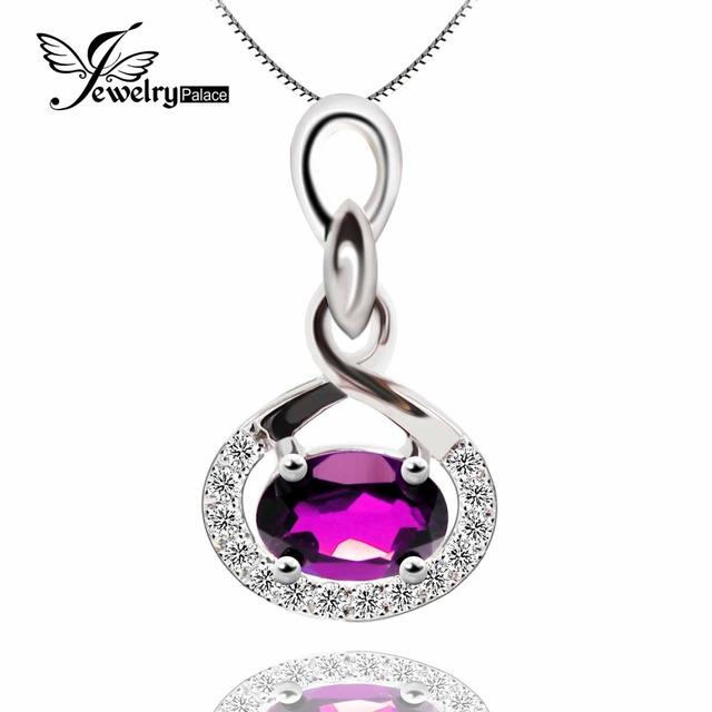Feelcolor natural roxo ametista genuine sólido 925 sterling silver gemstone pingente mulher jóias vintage medalhão flutuante