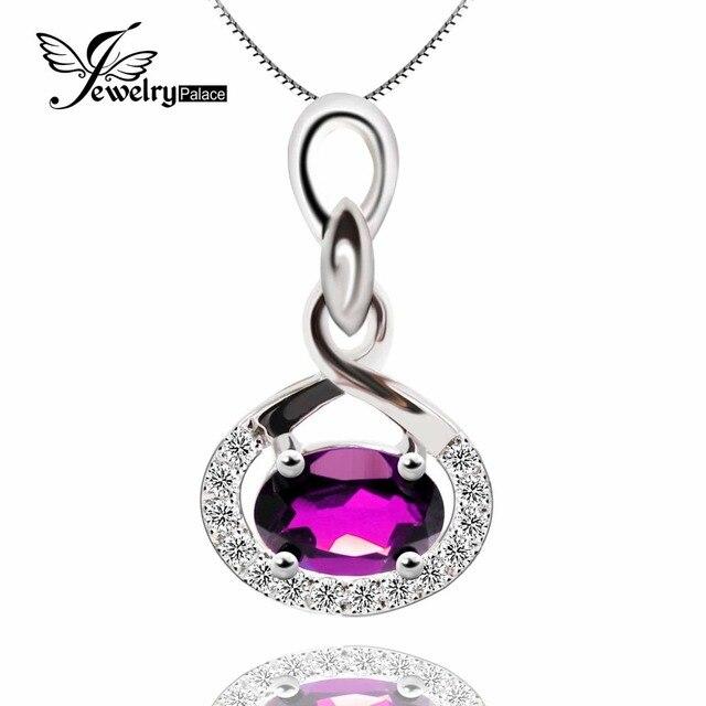 Solid 925 Sterling Silver Feelcolor Purple Natural Genuine Amethyst Gemstone Pendant Woman Vintage Jewelry Floating Locket