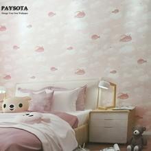 PAYSOTA Cartoon 3D Cute Whale Wallpaper Girl Boy Bedroom Den Decorative Volume