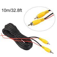 10/12/15/20 м RCA видео кабель задний вид автомобиля Парковка Камера видео кабель с обнаружением провода аудио конвертер Кабель