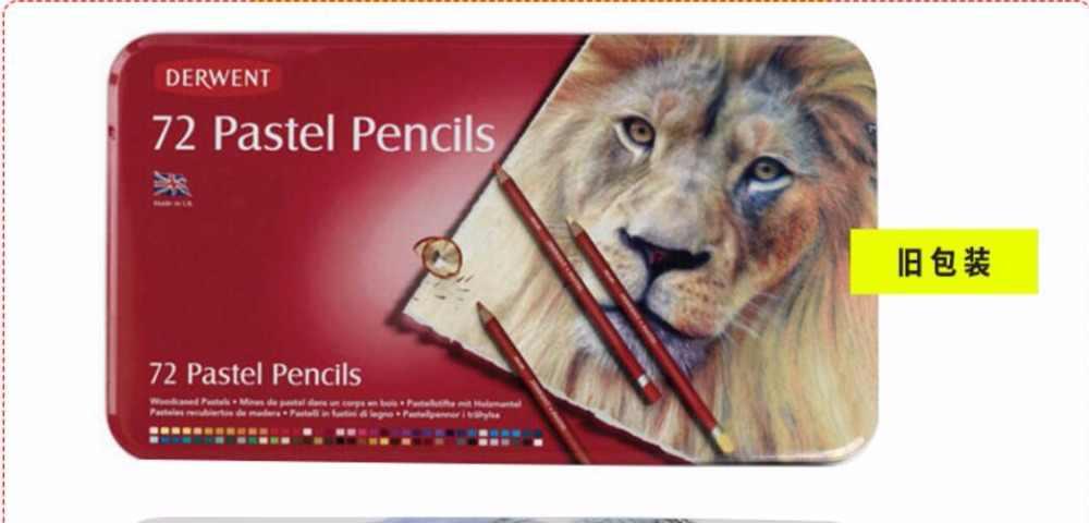 24/36/72 lápices de colores pastel profesional no tóxicos para dibujo de lápiz caja de metal para lápices derwent