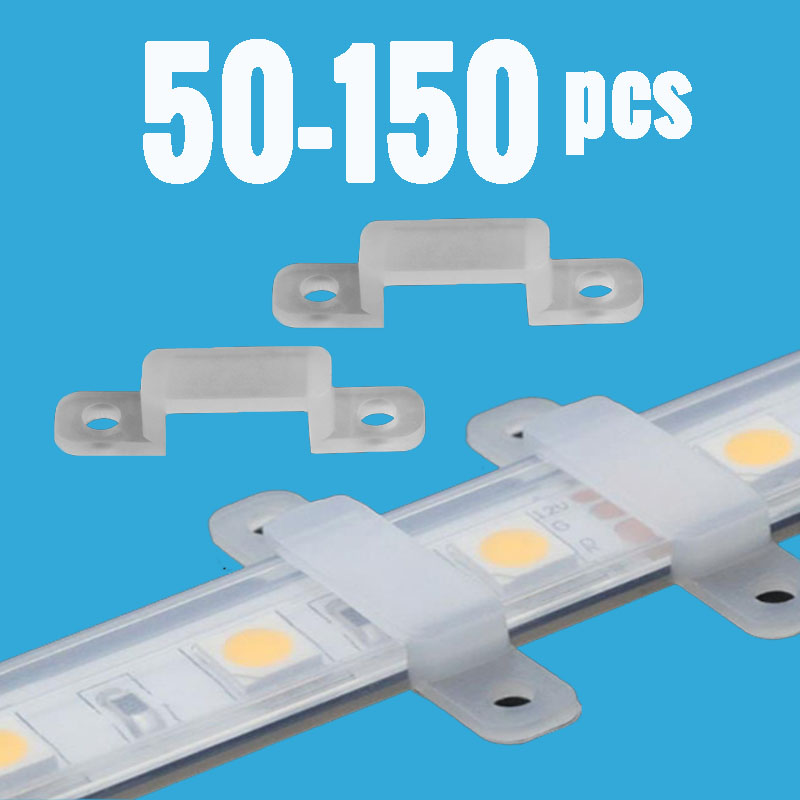 цены LED Strip Connector Silicon Clip 8mm 10mm 12mm Fixing Holder for SMD3528 SMD5050 Flexible Light Strip