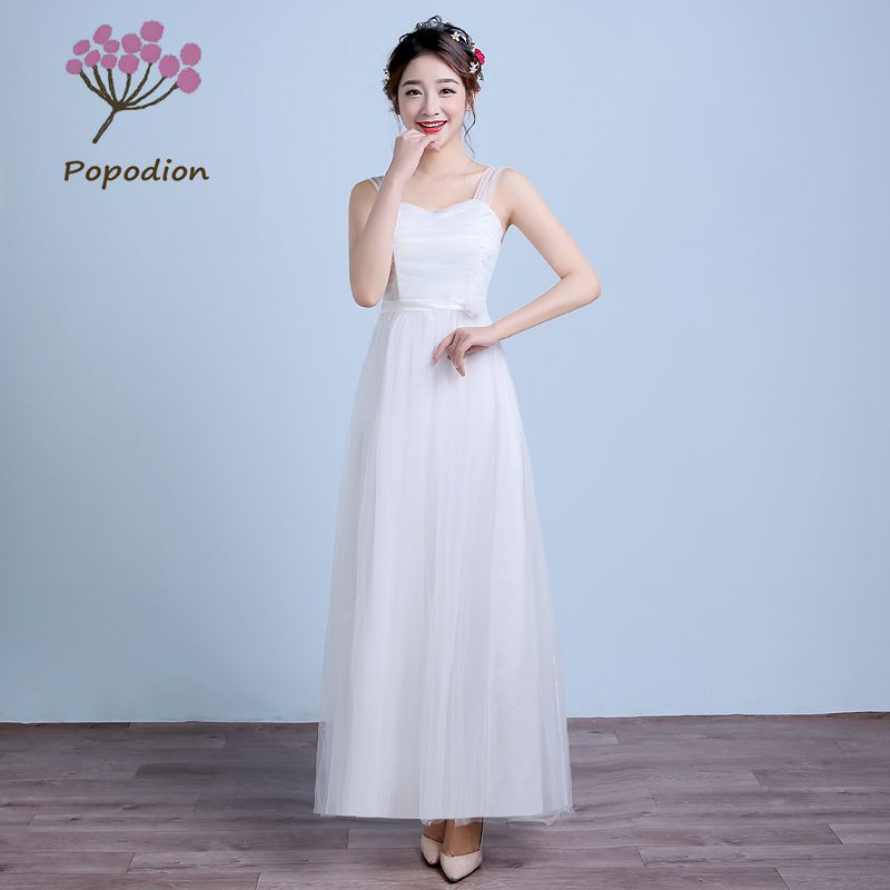 Long Gowns For Wedding Guests: Summer Bridesmaid Dresses Flower Long Dress For Wedding