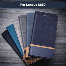Business Leather Phone Case For Lenovo S850 Flip Wallet Case