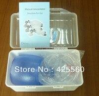 4 Parça PVC Tıbbi Plastik Lateks-Free Tek Kullanımlık Çanta Tek yönlü Vana Maskesi CPR Ilk Için Manuel Resüsitatör yardım Eğitimi