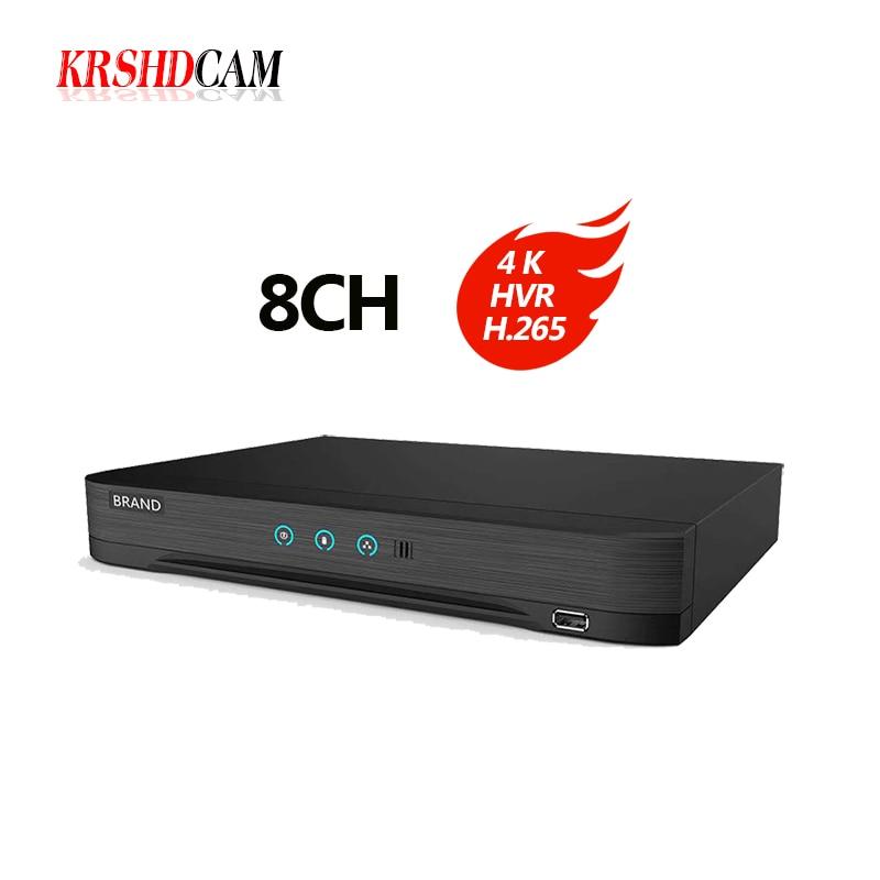 4K DVR 4CH/8CH HDTVI/HDCVI/AHD/CVBS Signal HDMI output at up to 4K 5MP/4MP/1080P output H.265