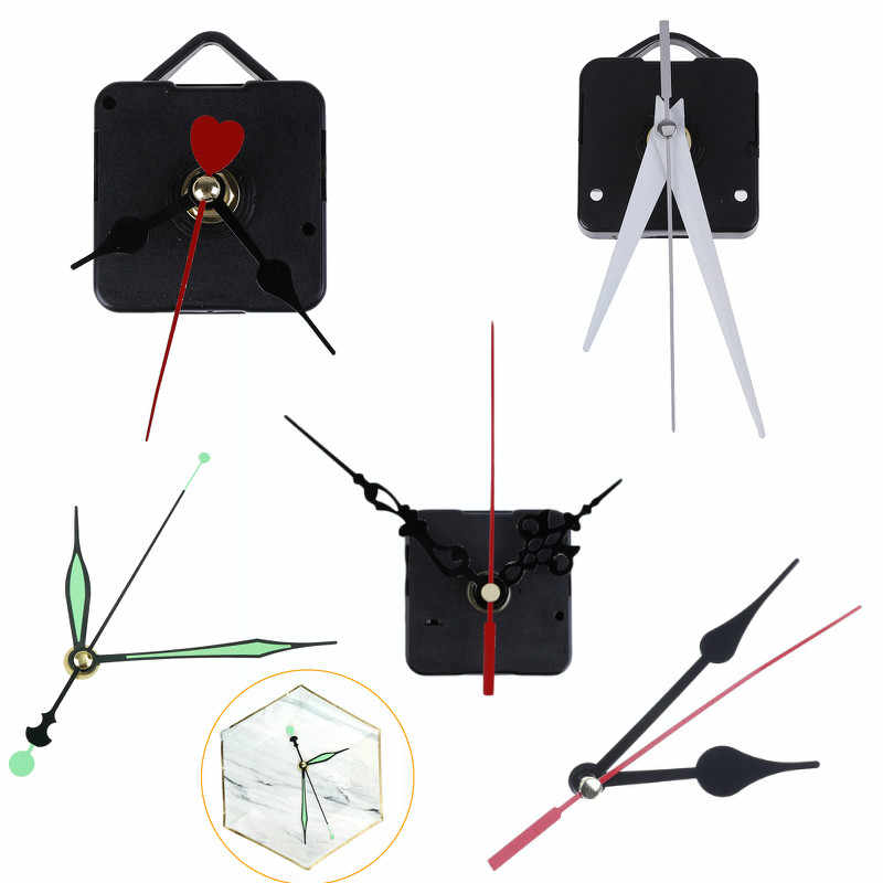 1 Set Stille Wanduhr Quarz Bewegung Mechanismus Schwarz Rot DIY Wanduhr Quarzuhr Stunde/Minute Hand Uhr bewegung