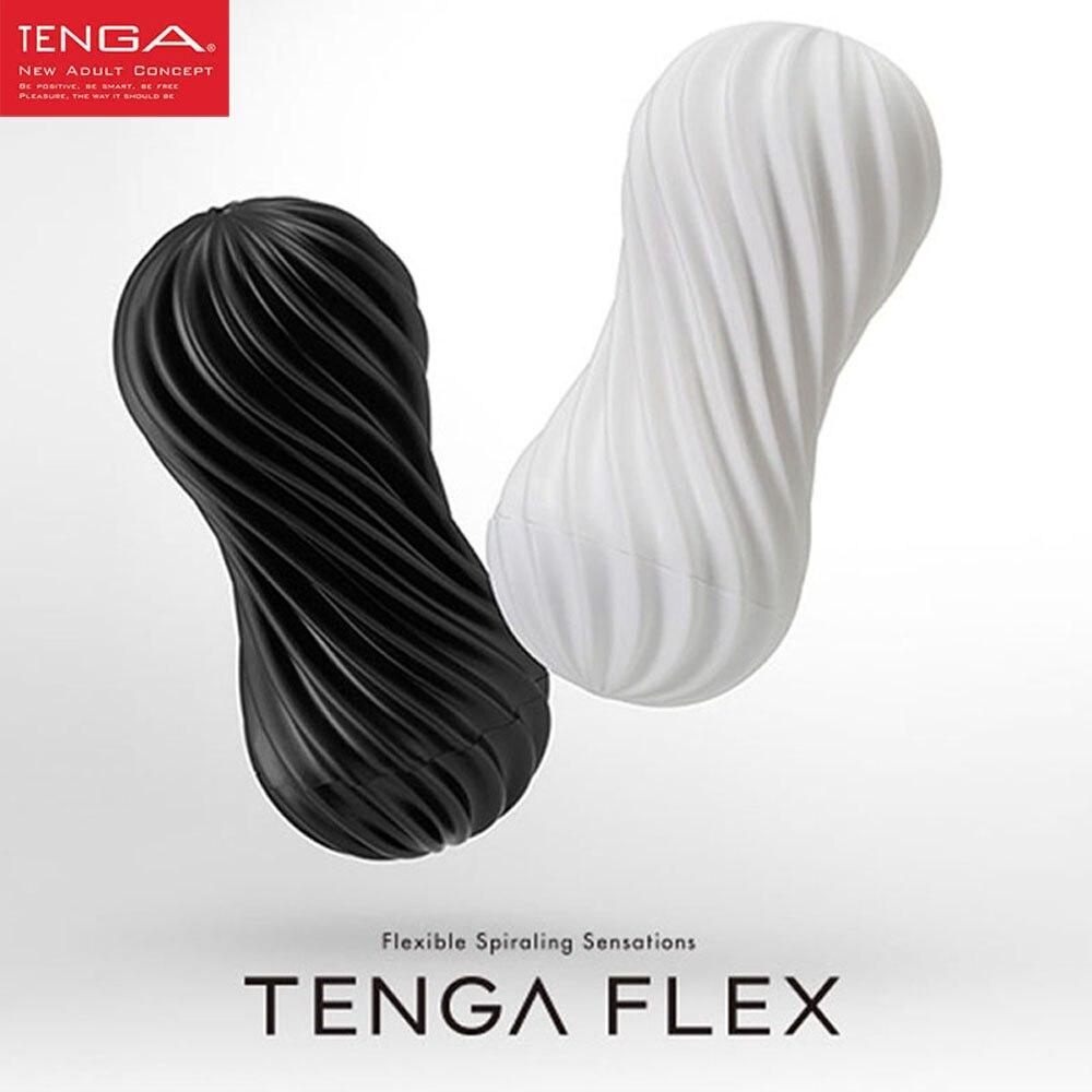 TENGA FLEX Flessibile A Spirale stimolazione del pene Tazza, Vagina Vero E Proprio Figa Masturbator Maschio Coppa Sex Toys for Men Prodotti Del Sesso