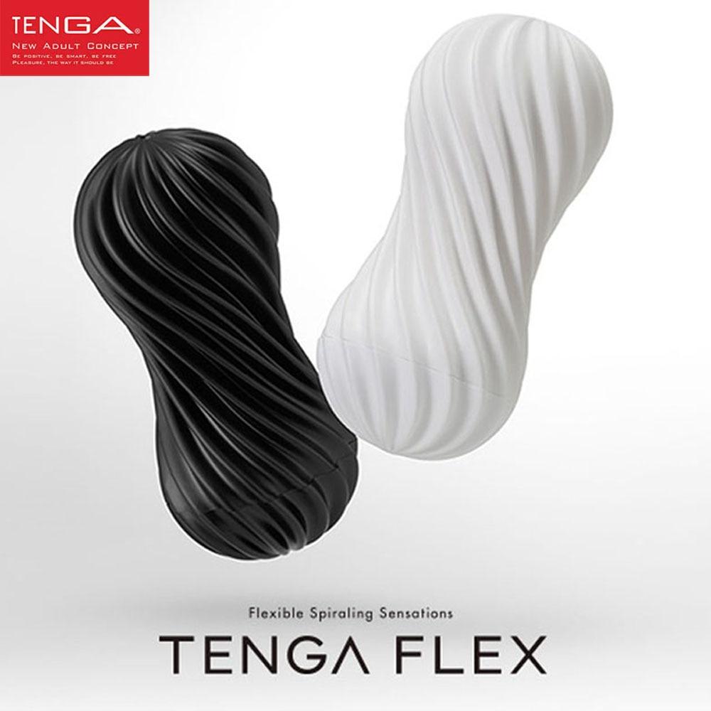 TENGA FLEX Flexible En Spirale stimulation du pénis Tasse, Vagin Réel Chatte Mâle Masturbateur Tasse Sex Toys pour Hommes Produits de Sexe