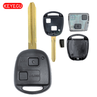 Keyecu Remote Key 2 Button 304MHz With 4C Chip for Toyota Uncut Blade TOY43 PN: 60040