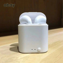 лучшая цена i7s TWS Bluetooth wireless Earphones with Mic bass Bluetooth sports headphones Headset Stereo Earbuds for mobile phone