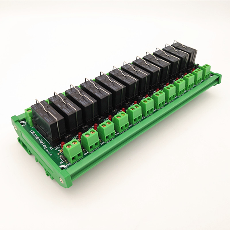 DIN Rail Mount 12 SPDT 16A Power Relay Interface Module,OMRON G5RL-1-E 24VDC Relay.DIN Rail Mount 12 SPDT 16A Power Relay Interface Module,OMRON G5RL-1-E 24VDC Relay.