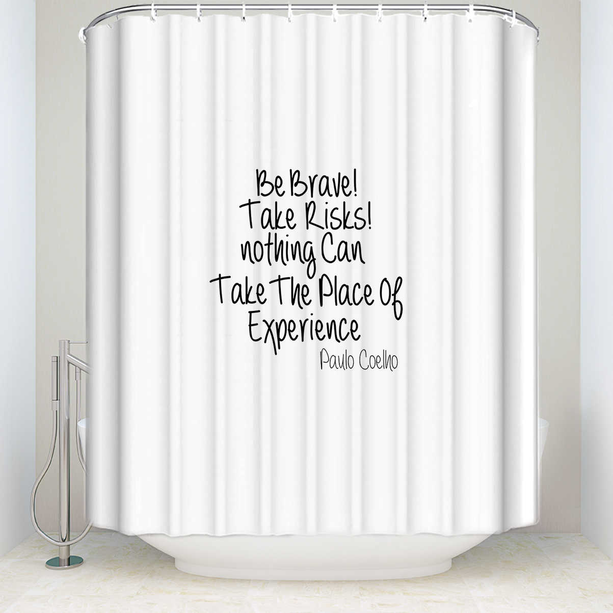 Charmhome Hot Sale Shower Curtain Be Brave Quote Personalized