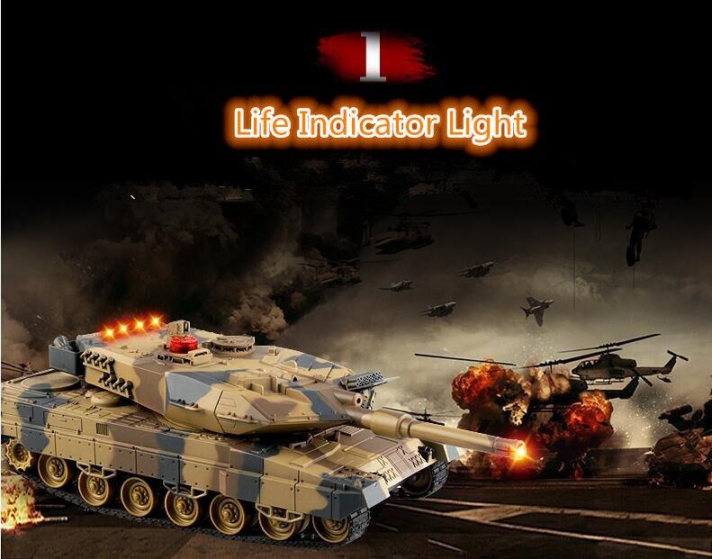 Panthers allemands bataille RC réservoir HQ-516 IIA6 38 CM simulation son VS humain récréatif infrarouge télécommande main bataille jouet - 4