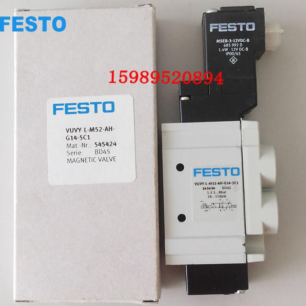 VUVY-L-M52-AH-G14-5C1 545424  solenoid valves  body  FESTO without Coil free shippingVUVY-L-M52-AH-G14-5C1 545424  solenoid valves  body  FESTO without Coil free shipping