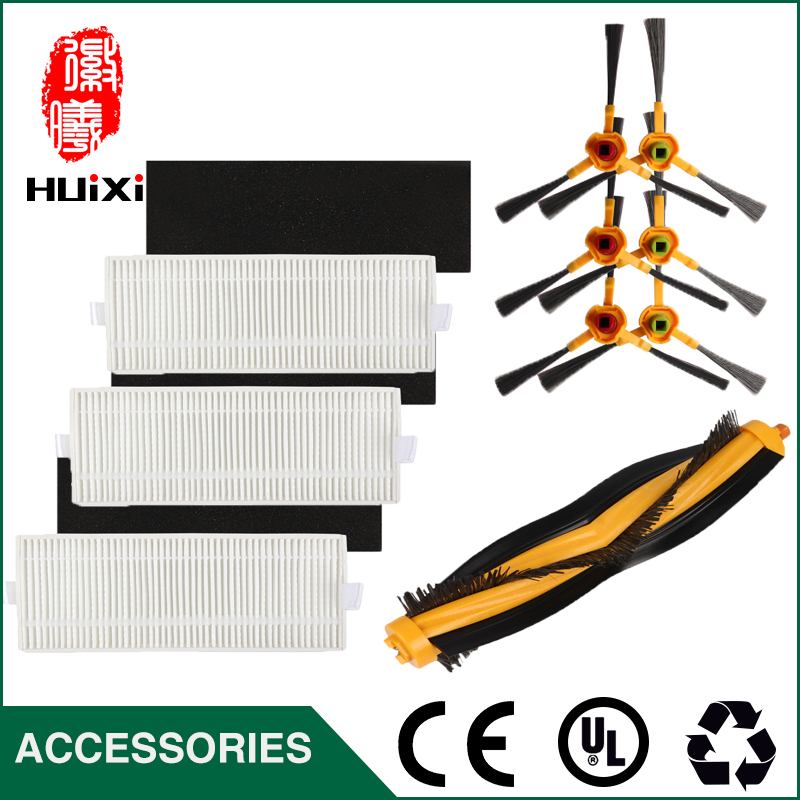 3 pairs HEPA Filter+1pc Turbo Brush Main Agitator Brush+3 pairs Side Brush for Deebot  DT85 DT83 DM81 Vacuum Cleaner for House cheapest 1pcs cleaning mopping cloth 3 pair hepa filter 3 pair cleaner side brush for dt85 dt83 dm81 vacuum cleaner for house