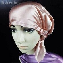 100% Шелк Спальные Шляпы Волос Обруч для Ночной Колпак Мягкий Капот Hat женщин DAJ9099