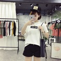 Kesebi 2017 Summer New Fashion Female Casual Loose Students Tops Women Korean Short Sleeve Printing Letters T-shirts JMR028#7022