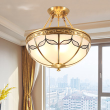 European LED ceiling lamp restaurant study Copper ceiling lights living room bedroom novelty wrought iron ceiling lamp fumat stained glass ceiling lights european fashion restaurant bedroom study ceiling lamp for living room light fixtures