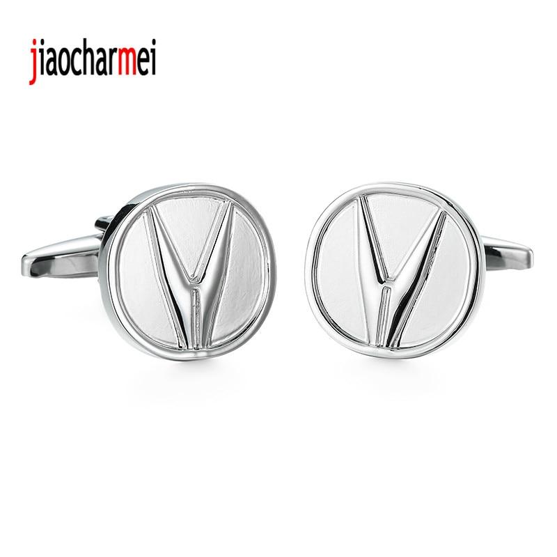 High quality Silver Cufflinks personalized design new fashion style car logo Silver Cufflinks, French shirt accessories