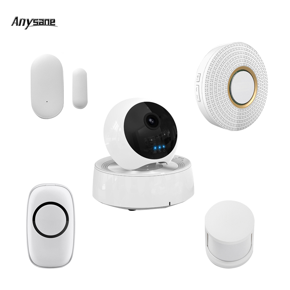 Universal wireless remote control alarm system smart camera with doorbell IOS Android 3G 4G wifi wireless smart home automation