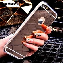 купить Fashion Mirror Case for Apple iphone5 5S SE 6 6S 7 7 Plus Back Cover Plating TPU Soft Clear Silicone Phone Bag Case Accessories по цене 110.88 рублей