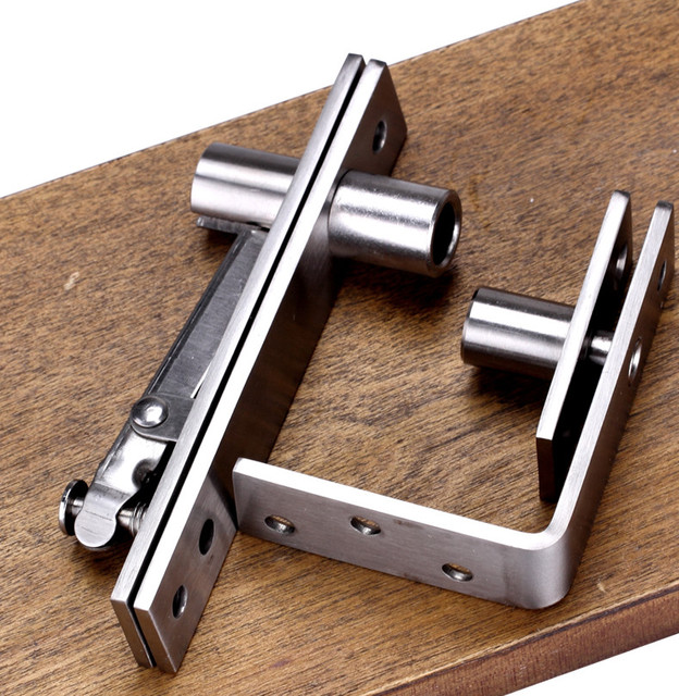 Venta caliente arriba y abajo del eje de acero inoxidable puerta bisagra bisagra de pivote 130 mm x 25 mm 360 degree