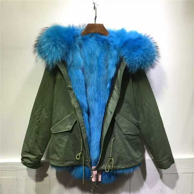 Aliexpress.com : Buy Sky blue fox fur coat winter thick warm fur ...
