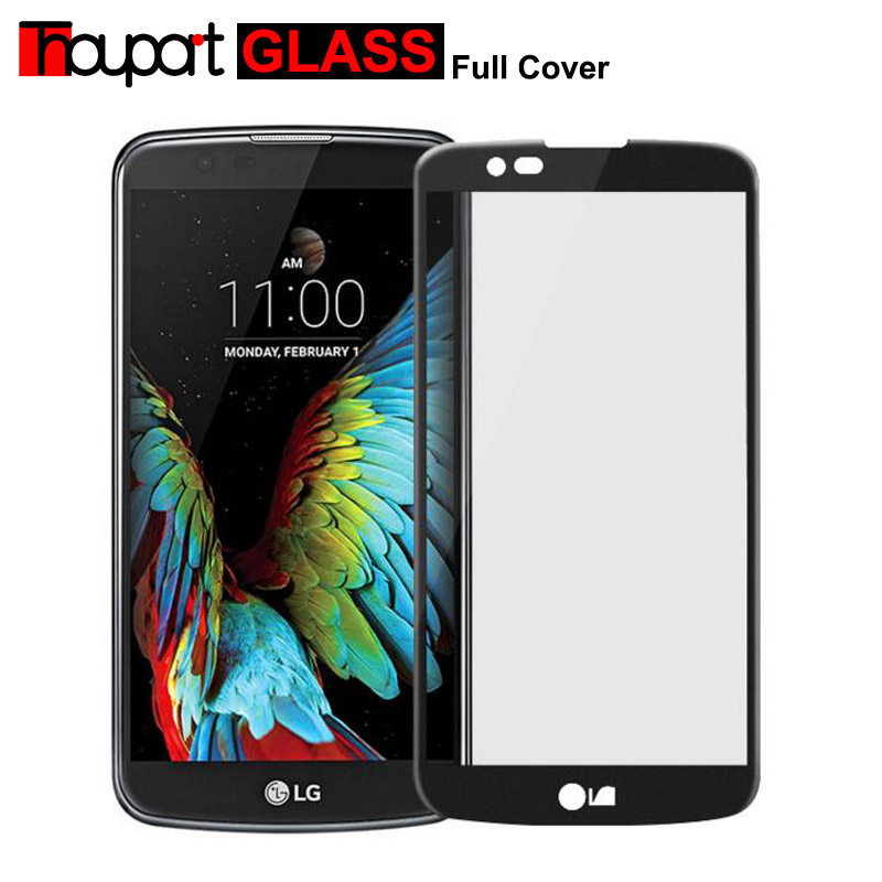 Thouport For LG K10 LTE K420N K430 K430ds F670 Glass Full Screen Protector Tempered Glass For LG K10 Protective Film Full CoverThouport For LG K10 LTE K420N K430 K430ds F670 Glass Full Screen Protector Tempered Glass For LG K10 Protective Film Full Cover