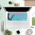 US English Lovely Colorful Silicone Keyboard Cover Skin for macbook air 13 pro 13 15 17 retina Cherry Blossom