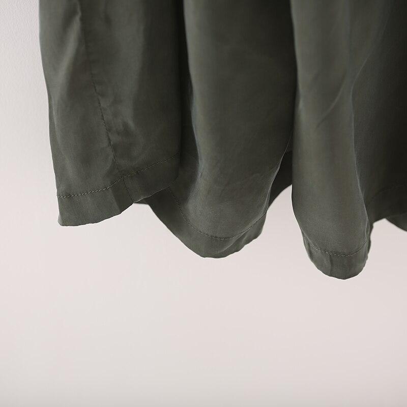 K1875 artístico de gran tamaño cobre amoniaco seda color sólido 9 minutos pantalones de pierna ancha pantalones de falda-in Overoles y mamelucos from Ropa de mujer    3