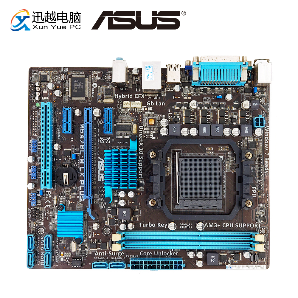 Asus M5A78L-M LX PLUS Desktop Motherboard 760G Socket AM3+ DDR3 16G SATA3 USB2.0 COM VGA Micro ATX asus m5a78l desktop motherboard 760g socket am3 ddr3 16g sata2 usb2 0 atx