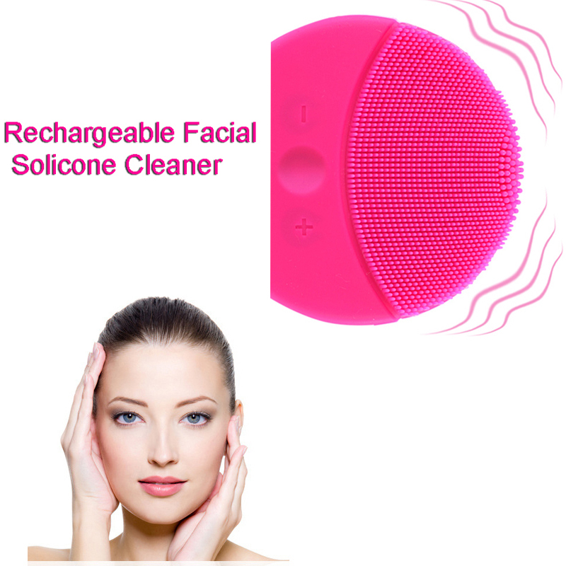 Silicone Facial Cleansing Whole Waterproof Ultrasonic Massage Skin Deep Cleaning Device Rechargeable Face Cleanser-in Powered Facial Cleansing Devices from Home Appliances on Aliexpress.com | Alibaba Group