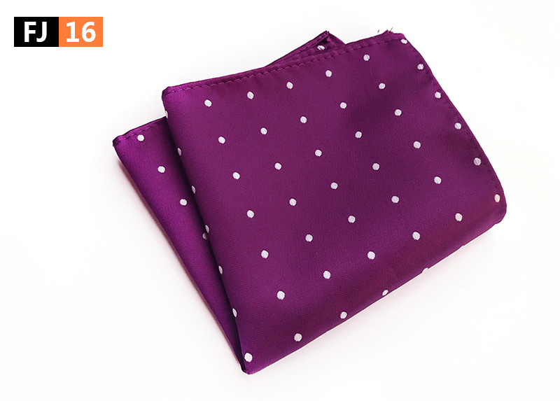 25x25cm Big Size Men Pocket Square With Fashion Spots
