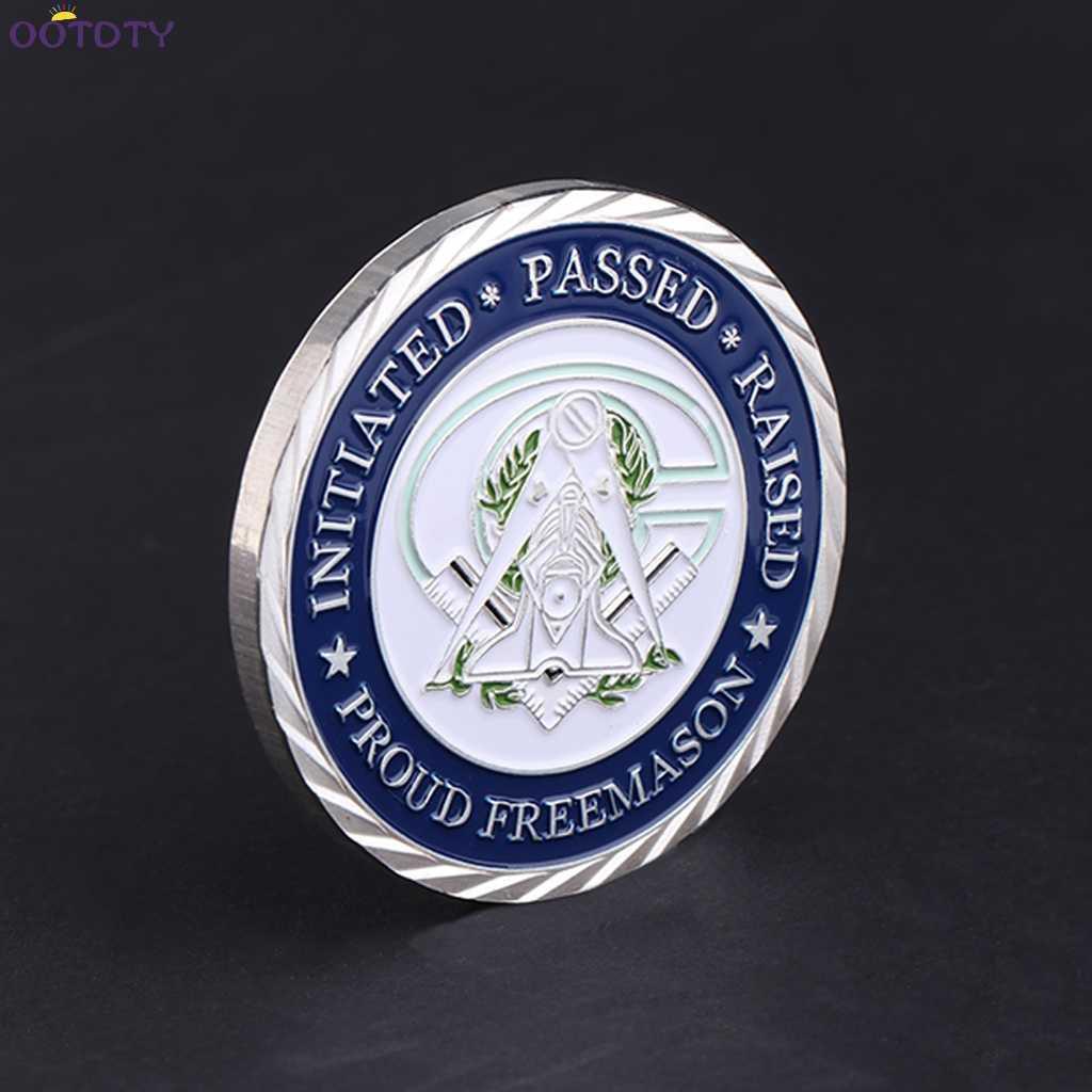 عملة تذكارية الماسونيين الفضة الذهبي الإيمان جمع الفنون هدايا تذكارية