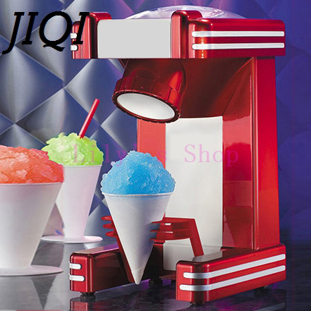 JIQI Mini Snow Drink Slushy Maker ice shaver block shaving machine ice crusher ice smoothies Snow Cone machine kitchen tools EU snow ice shaver machine manual commercial ice block shaving machine